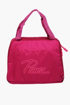 PUMA Womens Zipper Closure Shoulder Bag