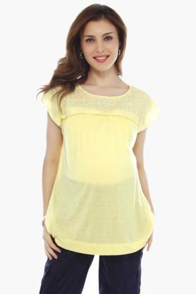 NINE MATERNITY Maternity Blouse With Lace At Shoulder