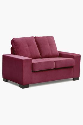 Carmine Maroon Fabric Sofa (2 - Seater)