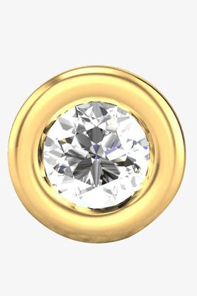 VELVETCASEWomens 18 Karat Yellow Gold Nose Ring (Free Diamond Pendant) - 201065042