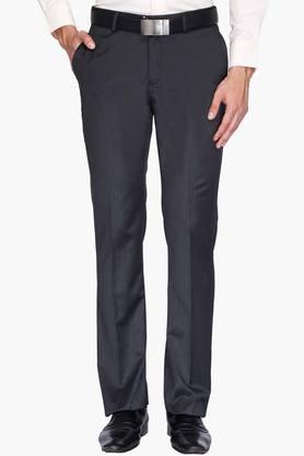 BLACKBERRYSMens 4 Pocket Regular Fit Slub Formal Trousers