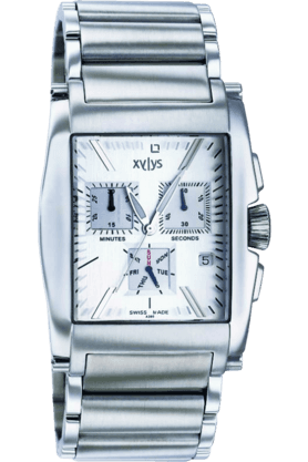 Mens Silver White Dial Watch NE9249SM02