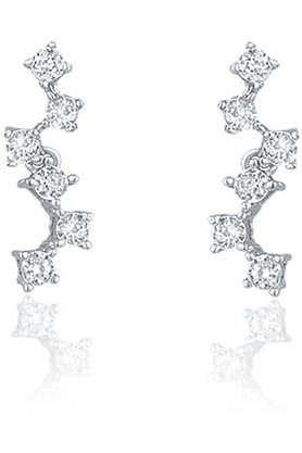 MAHI 92.5 Sterling Silver Primrose Cubic Zirconia Earrings From Elysia Collection By Mahi ER3191024S