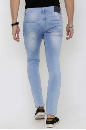 Mens Slim Fit Stone Wash Jeans