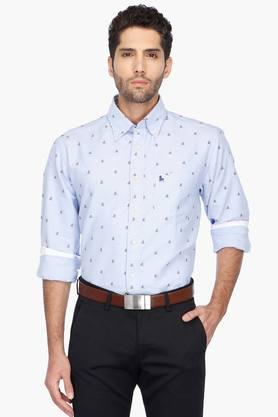 Z3 Formal Shirts (Men's) - Mens Button Down Collar Printed Shirt