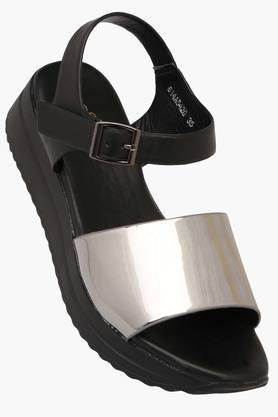 Womens Casual Wear Buckle Closure Wedge Sandals - 202376751