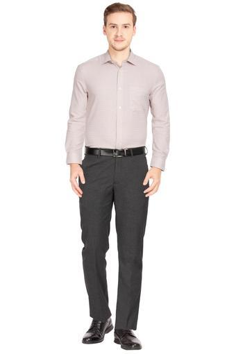 LOUIS PHILIPPE -  CharcoalFormal Trousers - Main