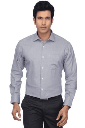 Mens Full Sleeves Slim Fit Formal Slub Shirt