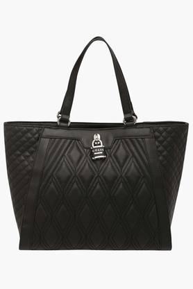 GUESSWomens Adorn Zipper Closure Tote Handbag