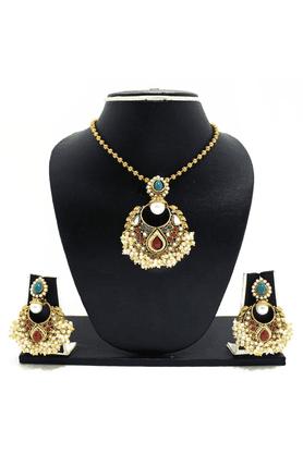 ZAVERI PEARLSAlankruti Pearls Jewel Necklace Set - ZPFK3344