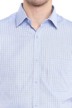 Mens Slim Collar Check Formal Shirt
