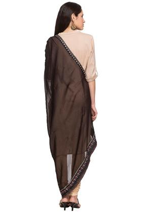 Womens Solid Side Taping Dupatta
