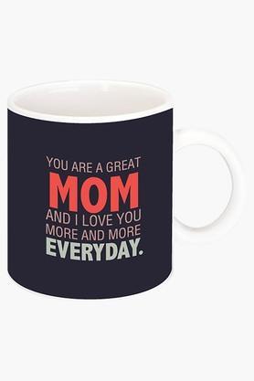 CRUDE AREA Great Mom Printed Ceramic Coffee Mug  ...