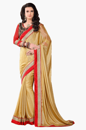 DEMARCA Womens Embroidered Saree - 201151773