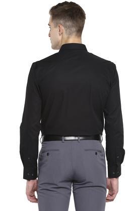 Mens Slim Collar Solid Formal Shirt