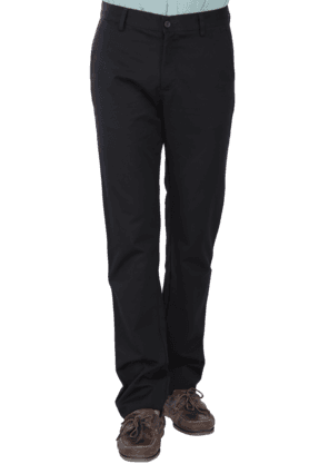 ALLEN SOLLYMens Flat Front Slim Fit Solid Chinos