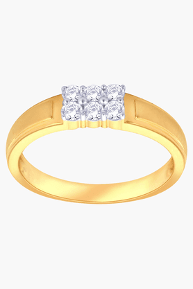 MALABAR GOLD AND DIAMONDS Unisex Mine Diamond Ring- Size 22