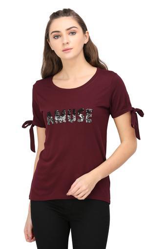 MSTAKEN -  BurgundyT-Shirts - Main