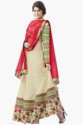 MAHOTSAV Womens Printed Semi-stitched Lehenga Choli - 201643991
