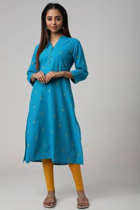 Womens Regular Fit Printed Kurta