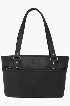 Womens Zipper Closure Synthetic Leather Tote Handbags - 201837561