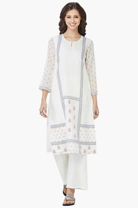 GLOBAL DESI Women Printed Key Hole Neck Kurta  ...