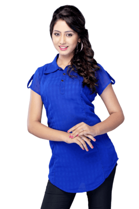 DEMARCAWomens Solid Kurta (Buy Any Demarca Product & Get A Pair Of Matching Earrings Free)