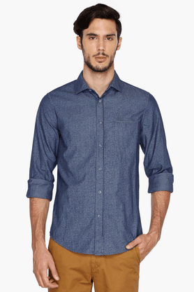 Gas Formal Shirts (Men's) - Mens Full Sleeves Slim Fit Casual Printed Shirt
