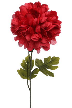IVY Single Ball Mum Artificial Flower Stem - 9352981