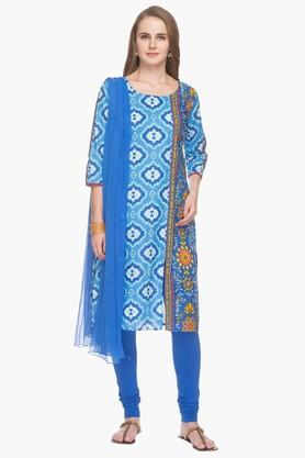 STOP Womens Printed Kurta Churidar Suit