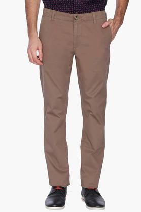 U.S. POLO ASSN. Mens Slim Fit Solid Casual Chinos