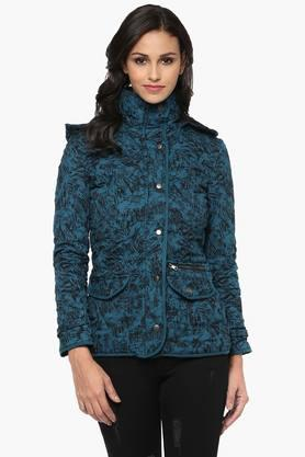 THE VANCA Womens Printed Hooded Jacket