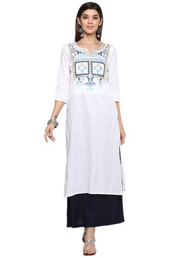 KASHISH -  White Kurtas - Main
