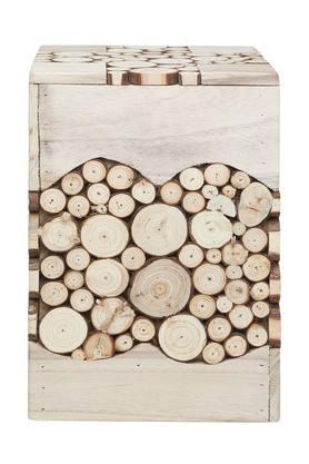 Fire Wood Slice Assorted Rectangular Stool
