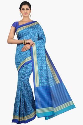 JASHN Women Tussar Silk Printed Saree  ... - 201860663