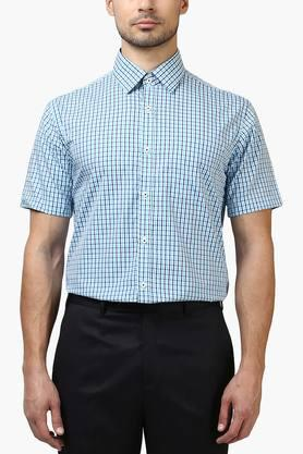 Park Avenue Formal Shirts (Men's) - Mens Slim Fit Check Shirt