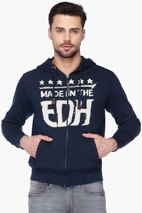 ED HARDY Mens Hooded Slim Fit Printed Sweatshirt