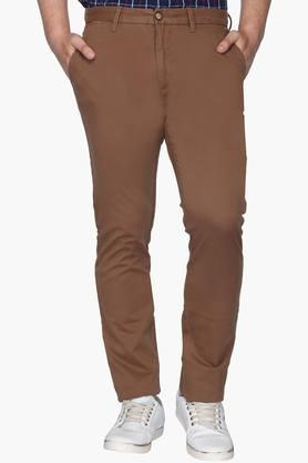 U.S. POLO ASSN. Mens Slim Fit 5 Pocket Solid Trousers