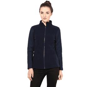 THE VANCAWomen Polar Fleece Jacket In Blue Color