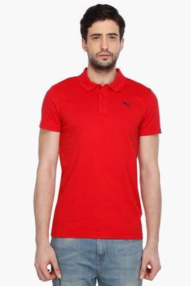 PUMA Mens Short Sleeves Round Neck Solid T-Shirt - 201583864