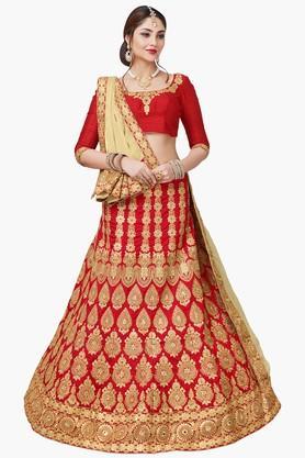 Womens Semi-Stiched Bridal Lehenga Choli