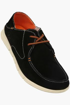 VENTURINI Mens Suede Lace Up Boat Shoes  ...