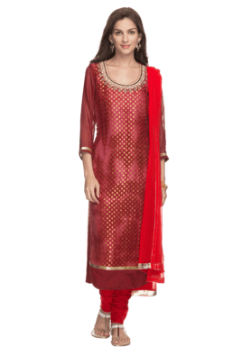 KASHISH Womens Embroidered Churidaar Suit