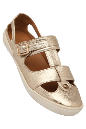 TRESMODE Womens Party Wear Slipon Flat Sandal