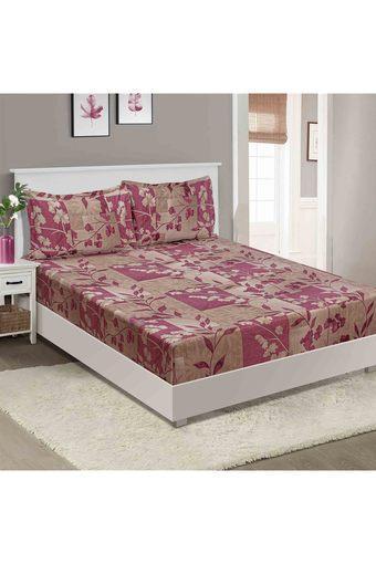 SWAYAM -  MaroonDouble Bed Sheets - Main