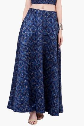 INDYA Womens Printed Maxi Skirt - 201845610