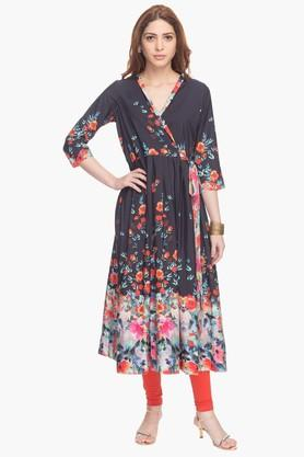HAUTE CURRY Womens Printed Kurta