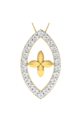SPARKLESHis & Her Collection 18 Kt Pendant In Gold & Real Diamond HHP9853