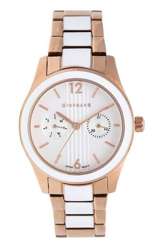 Womens White Dial Multi-Function Watch - GD-2043-33