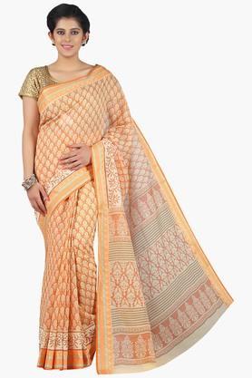 JASHN Women Super Net Printed Saree  ... - 201756955